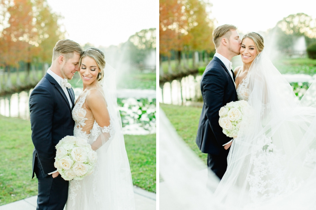 Tampa Bay Bride and Groom Outdoor Wedding Portrait