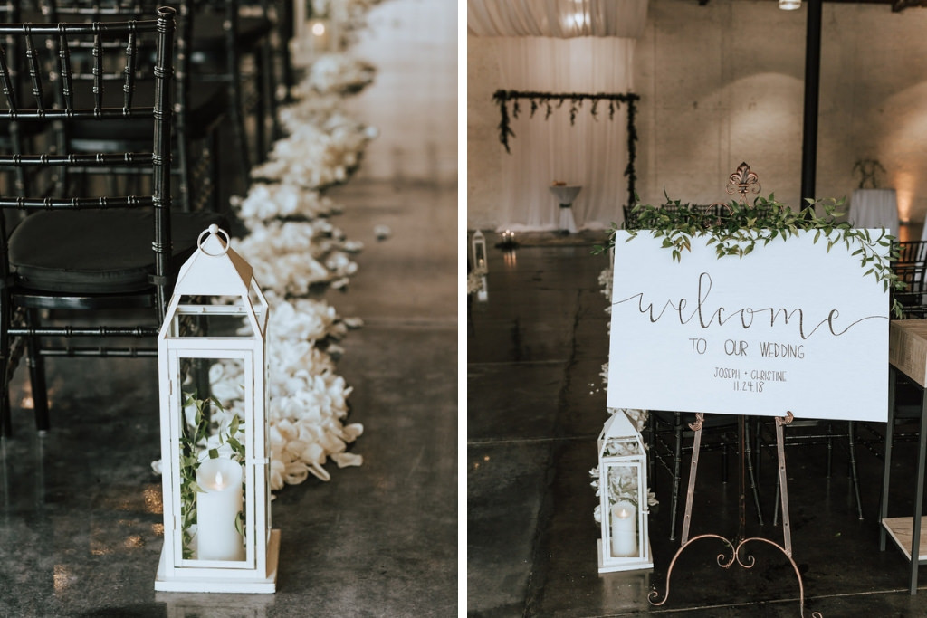 Wedding Ceremony Decor White Lantern With Candle White