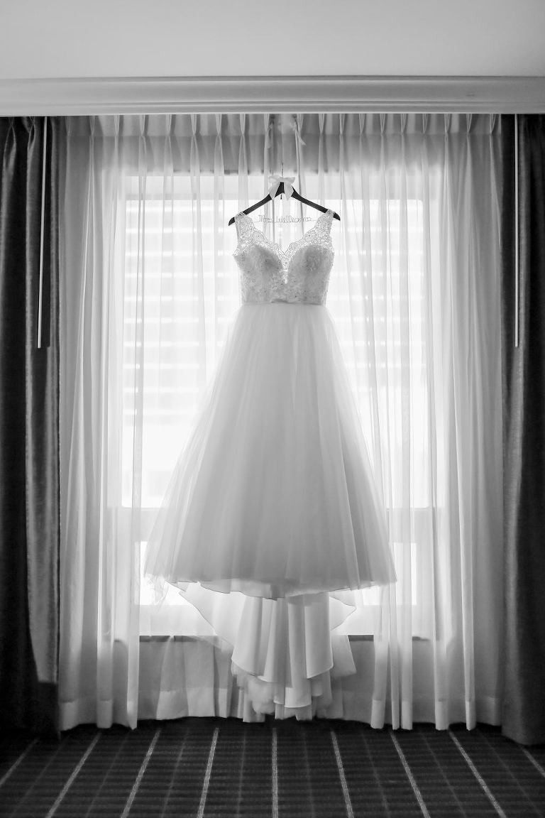 Lace and Illusion Bodice with Straps and Ballgown Skirt Wedding Dress | Tampa Bay Wedding Photographer Lifelong Photography Studio