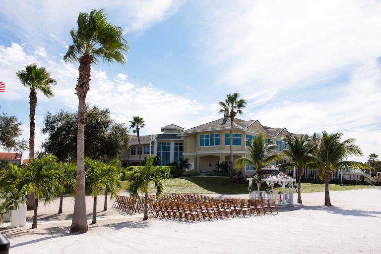 Beachfront Wedding Ceremony Decor | St. Petersburg Waterfront Wedding Venue with Private Beach Isla Del Sol Yacht and Country Club