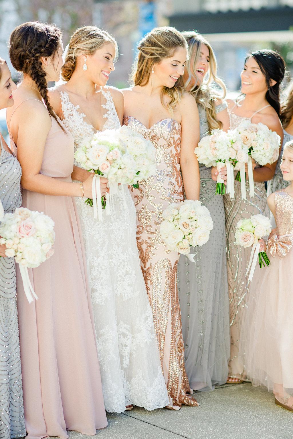 Tampa Bay Outdoor Bride And Bridesmaids Bridal Party Wedding
