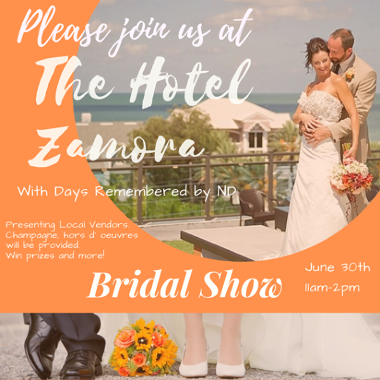 St. Pete Beach Wedding Venue Hotel Zamora Bridal Show, June 30, 2019
