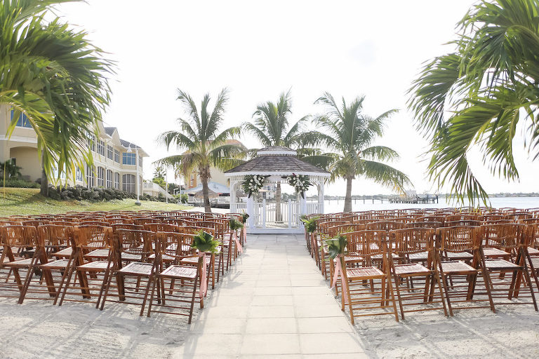 Outdoor Private Beach Wedding Ceremony at Gazebo | Waterfront St. Petersburg Venue Isla Del Sol Yacht and Country Club | Photographer LifeLong Photography Studios