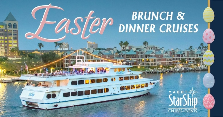 Tampa Bay, Clearwater Yacht StarShip Easter Brunch and Dinner Cruise