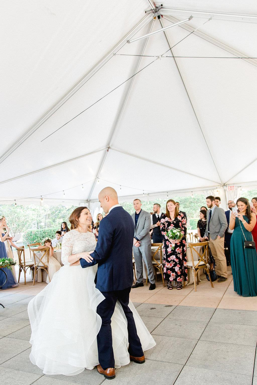 Bride and Groom Wedding Reception First Dance Portrait | South Tampa Wedding Venue Epicurean Hotel
