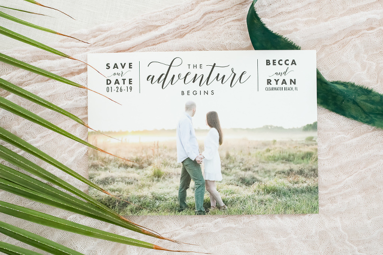 Custom Modern Photo Save The Date Invitation Card | Photographer Lifelong Photography Studios