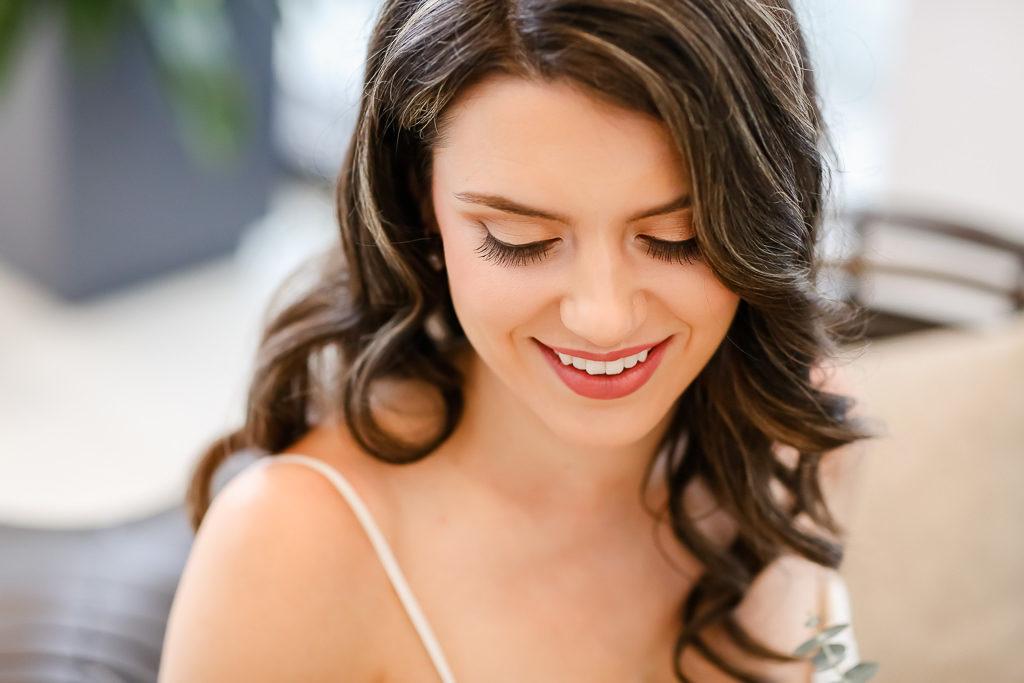 Casual Florida Bride Hair and Makeup Wedding Portrait | Michele Renee The Studio | Photographer Lifelong Photography Studios