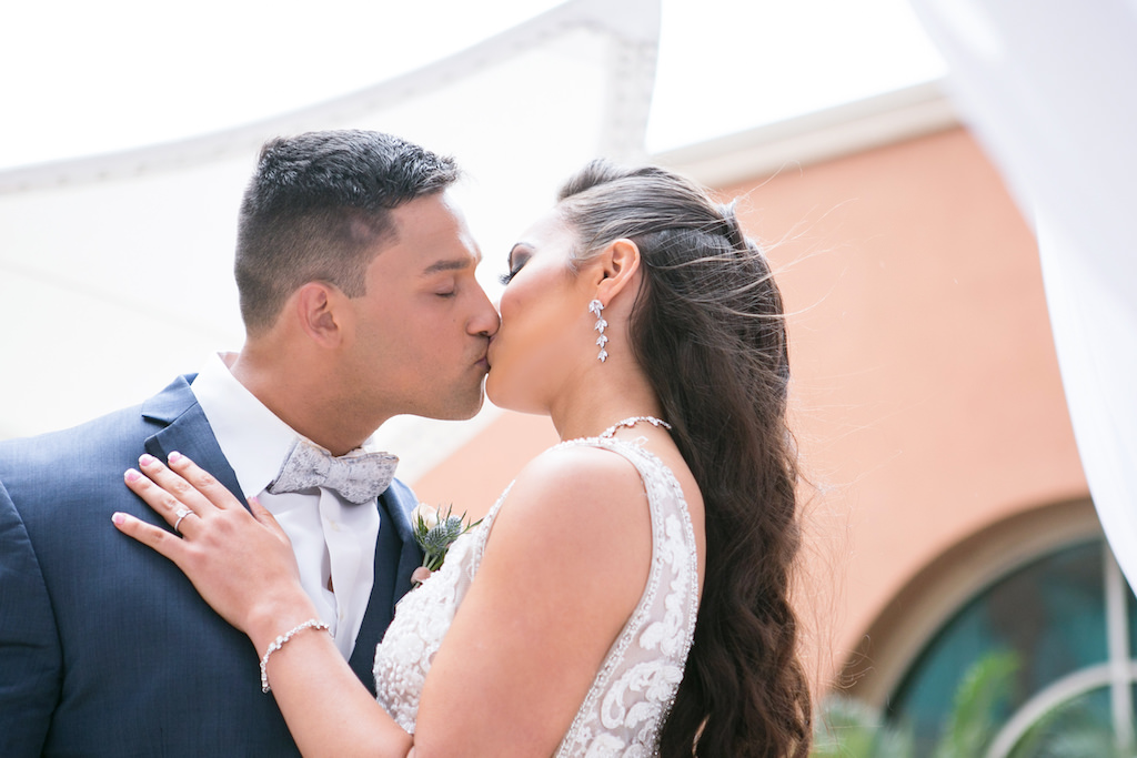 Florida Bride and Groom Wedding Portrait | Tampa Bay Photographer Carrie Wildes Photography | Hair and Makeup Destiny and Light Hair and Makeup Group