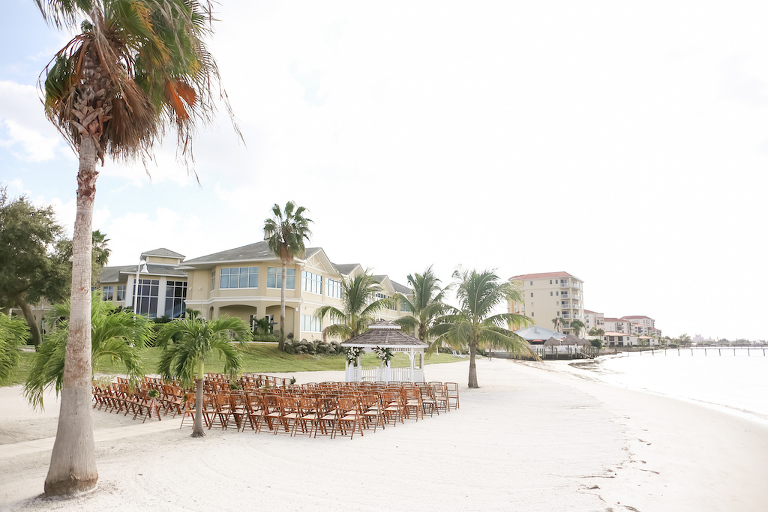 Outdoor Florida Beach Wedding Ceremony at Gazebo | Waterfront St. Petersburg Venue Isla Del Sol Yacht and Country Club | Photographer LifeLong Photography Studios