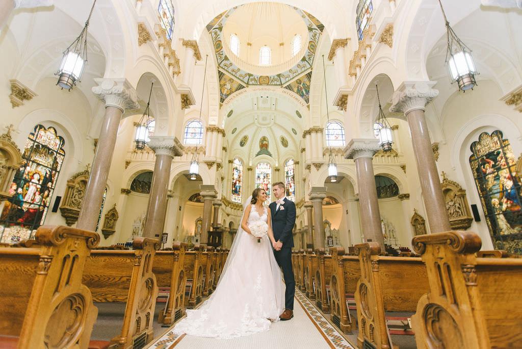 Bride and Groom Traditional Wedding Church Portrait   Photographer Kera Photography   Tampa Bay Wedding Ceremony Venue Sacred Heart Catholic Church