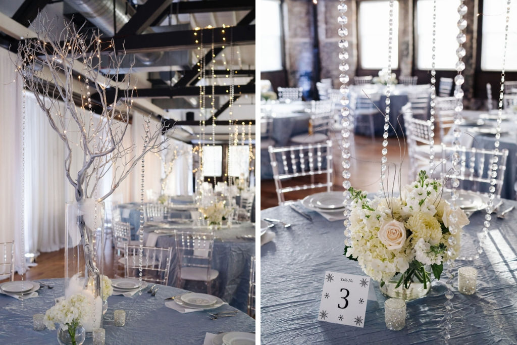 Winter Wonderland Wedding Decor And Reception At Downtown Tampa