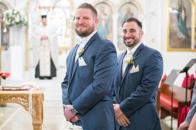 Tampa Bay Groom Reaction To Bride During Cathedral Wedding Ceremony