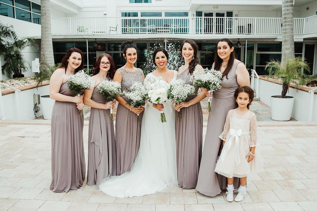 Tampa Bay Bride And Bridesmaids Wedding Portrait