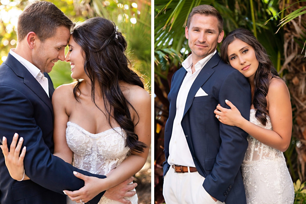 Florida Bride and Groom Intimate Wedding Portrait   Tampa Bay Hair and Makeup Artist Femme Akoi