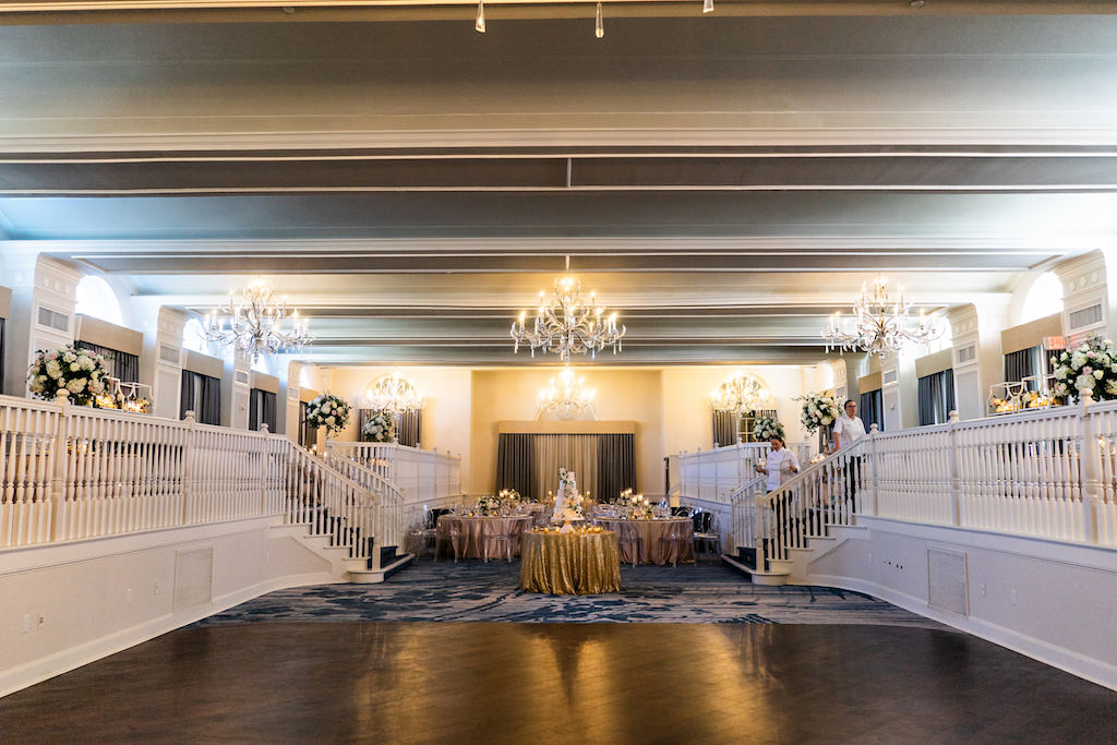 Romantic Glamorous Garden Inspired Wedding Decor and Reception   Historic St. Pete Beach Hotel The Don Cesar   Over The Top Rentals   Tampa Bay Florist Bruce Wayne Florals   Florida Wedding Planner Parties A La Carte