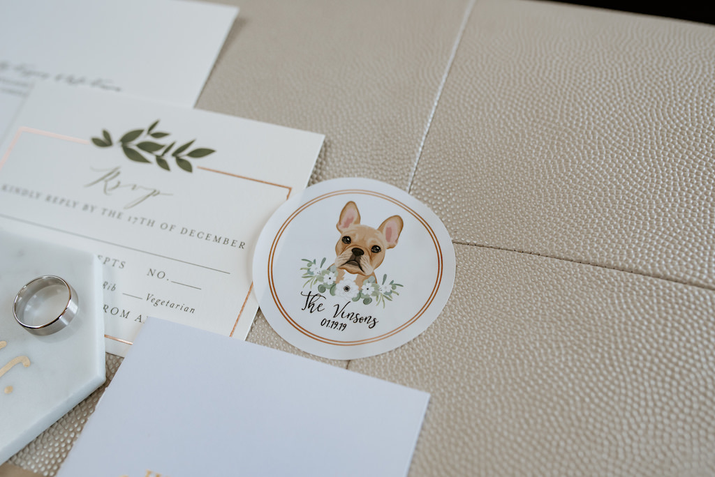 Custom Watercolor French Bulldog Stationary Save The Date