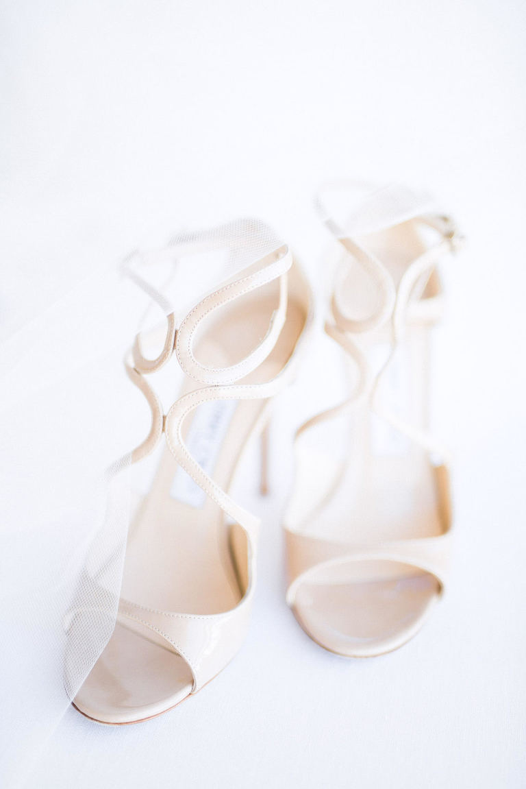 Off-White Ivory Strappy Open Toe Wedding Shoes