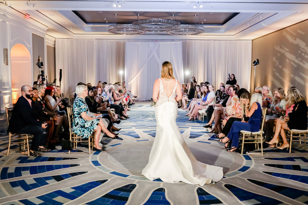 White Fit-and-Flare, Mermaid Style Wedding Dress, Low Back Illusion Lace,   Tampa Bay Wedding Photographer Lifelong Photography Studios   Truly Forever Bridal   The Ritz Carlton Sarasota