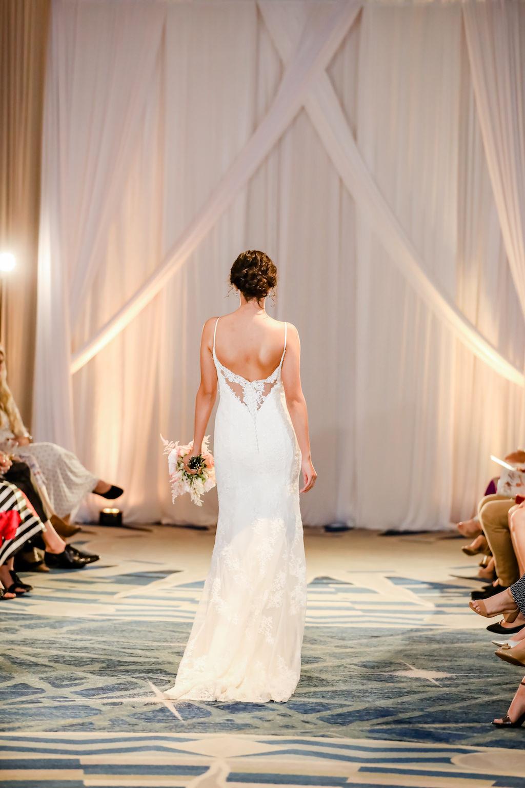 Boho Inspired, Low Back Lace Illusion Wedding Dress   Designer Matthew Christopher   Truly Forever Bridal   The Ritz Carlton Sarasota   Planner NK Weddings