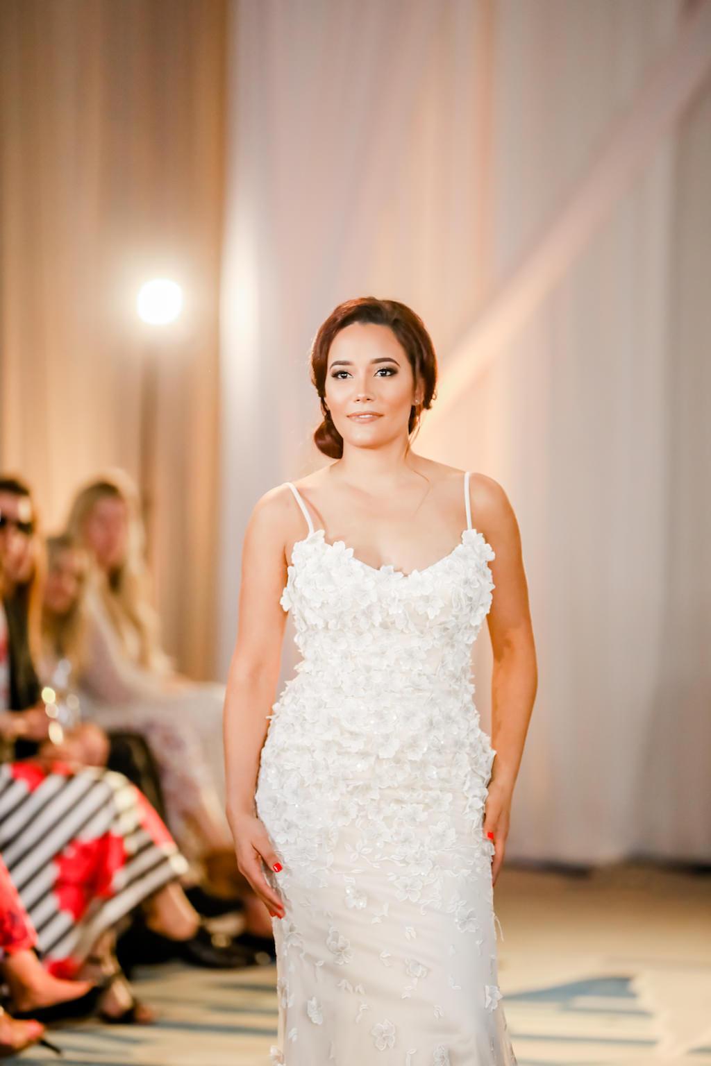 White, Floral Detailed, White Wedding Dress   Designer Matthew Christopher   Truly Forever Bridal   The Ritz Carlton Sarasota   Planner NK Weddings
