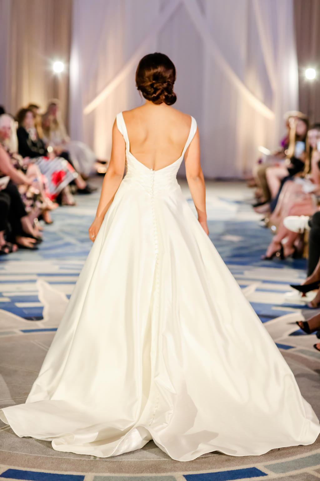 Clean, White, Ball Gown Style Wedding Dress, Open-Back   Designer Matthew Christopher   Truly Forever Bridal   The Ritz Carlton Sarasota   Planner NK Weddings