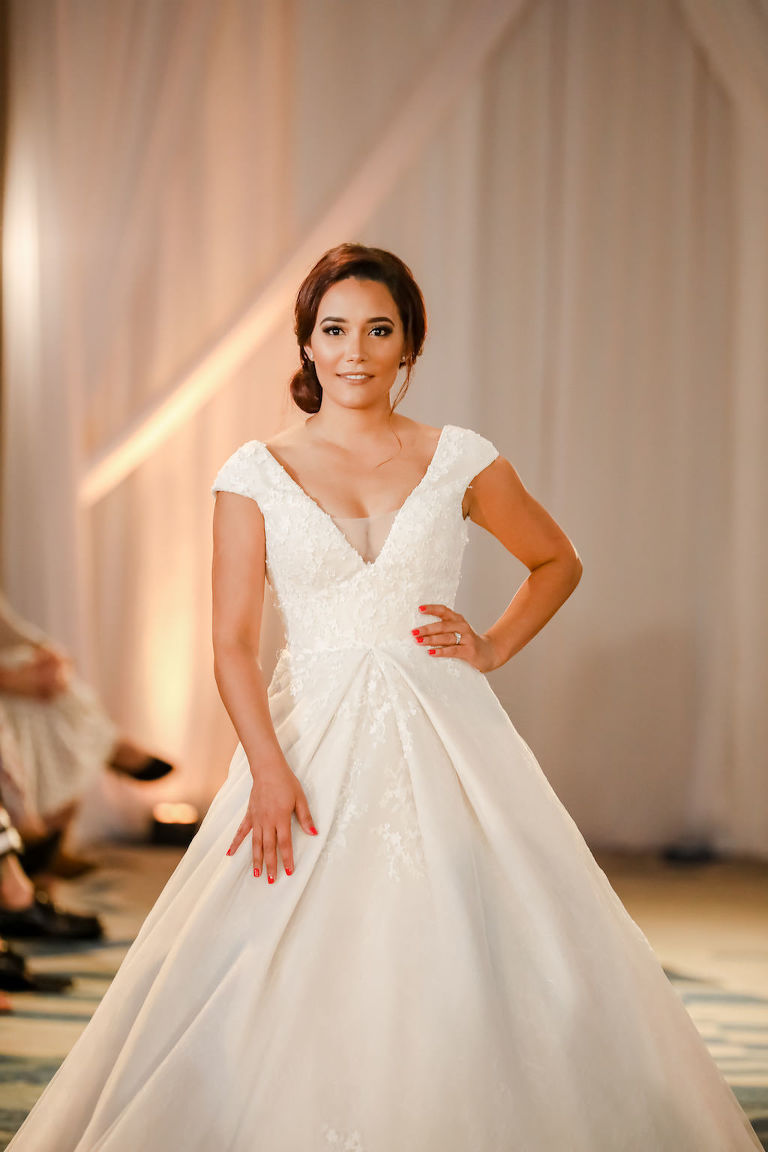 Classic, White Ballgown Style Wedding Dress, Cap Sleeves   Designer Matthew Christopher   Truly Forever Bridal   The Ritz Carlton Sarasota   Planner NK Weddings