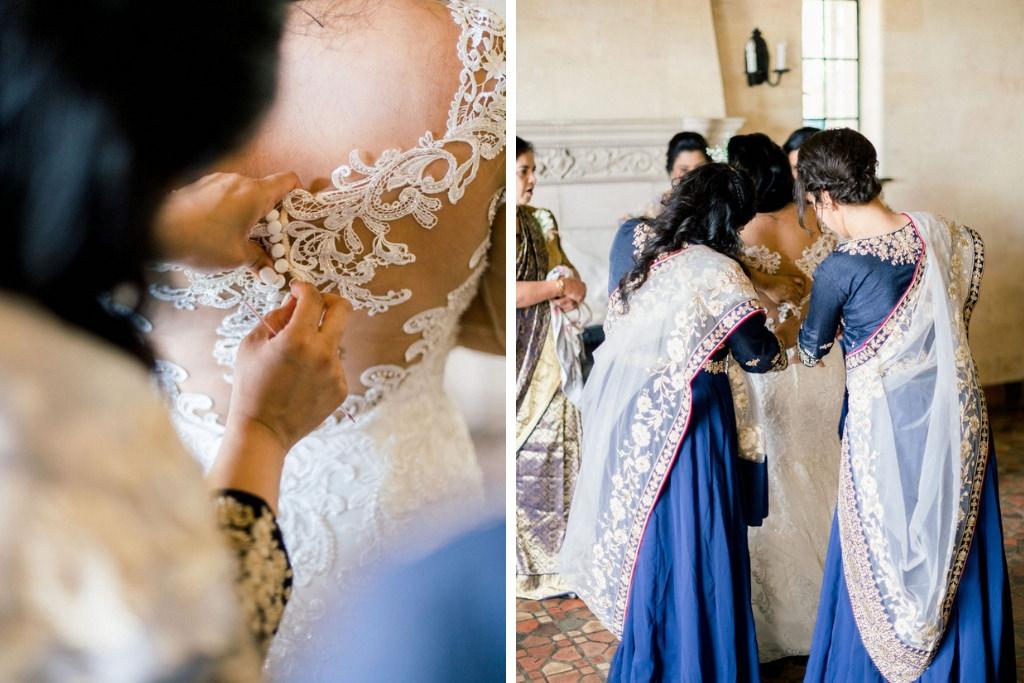 Bride Getting Ready Photo, Bridesmaids in Saris, at Powel Powel Crosley Estate in Sarasota Florida