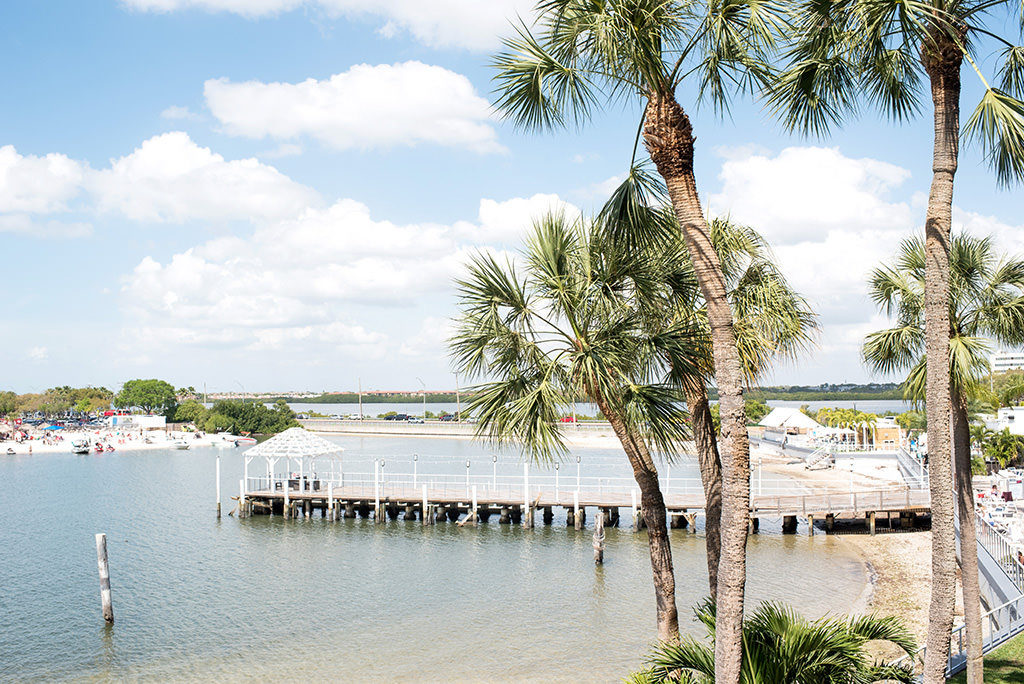 Tampa Bay Wedding Venue The Godfrey Hotel and Cabanas Waterfront View
