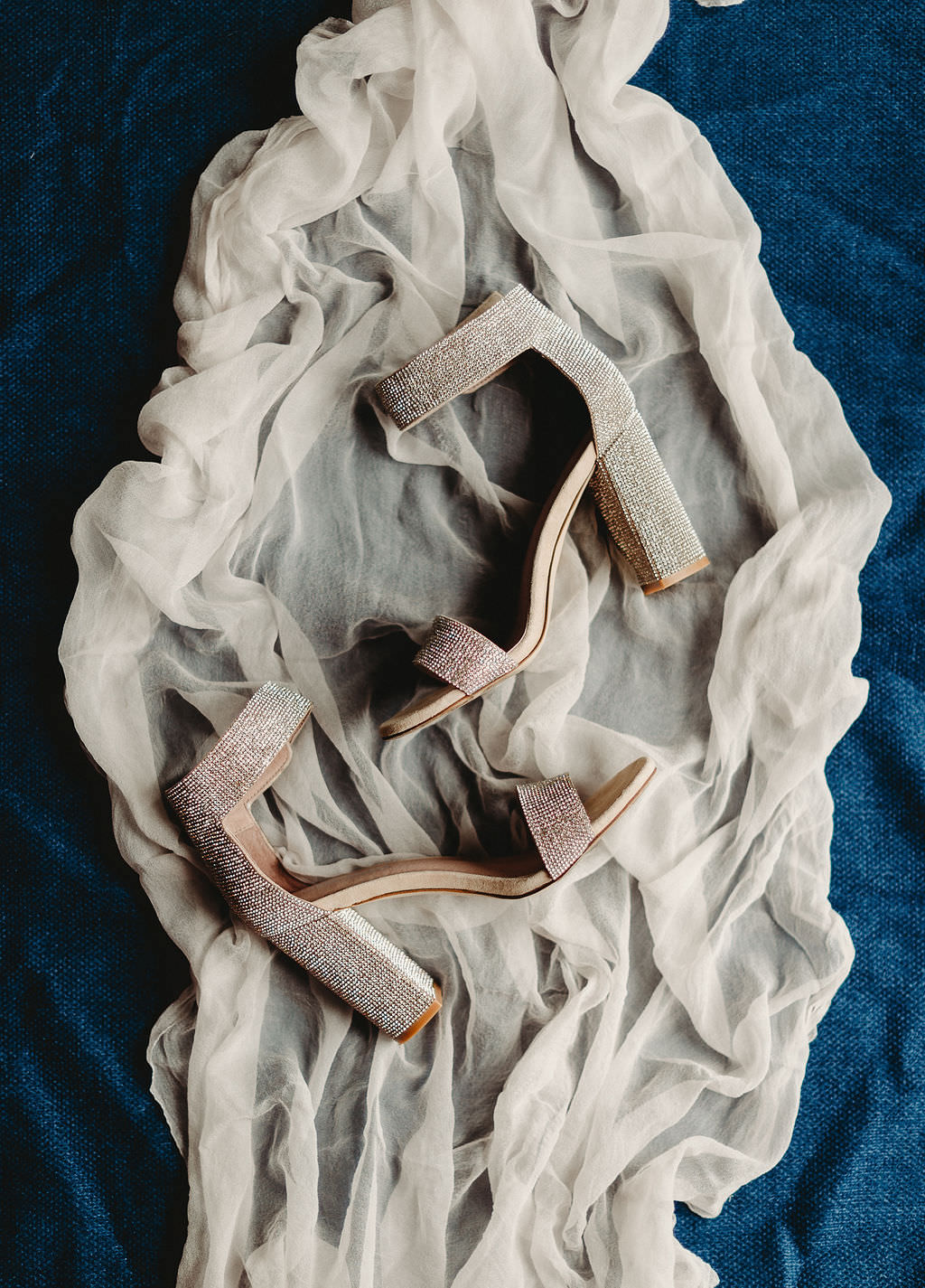 Silver Rhinestone Block Heel Sandal Steve Madden Bridal Wedding Shoes