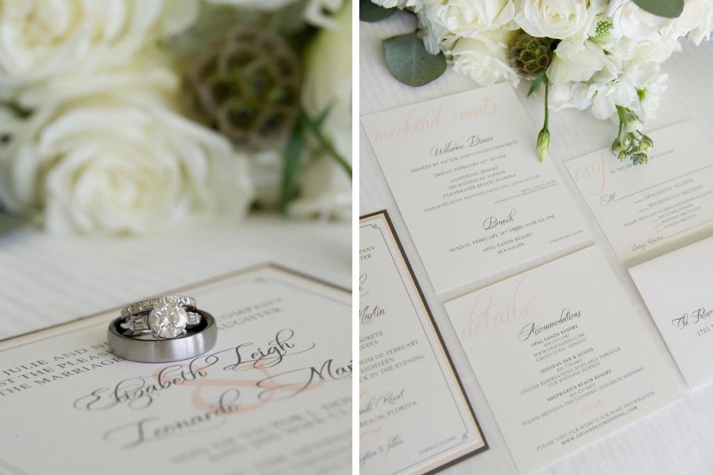 Elegant, Classic, Traditional White, Black and Pink Wedding Invitation