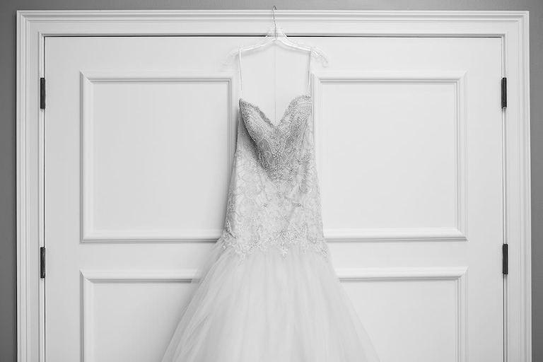 Strapless Sweetheart Rhinestone Beaded Bodice and Tulle Skirt Essense of Australia Wedding Dress