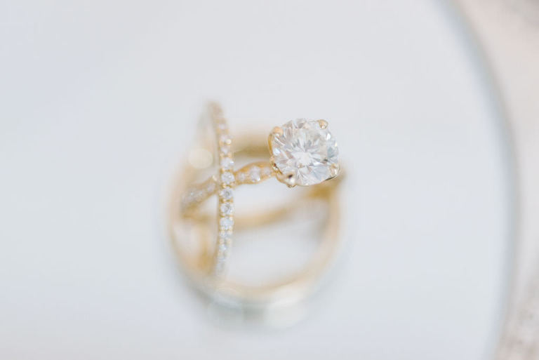 Classic Round Solitaire Diamond with Yellow Gold Band, Engagement Ring | Tampa Bay Wedding Photographer Kera Photography