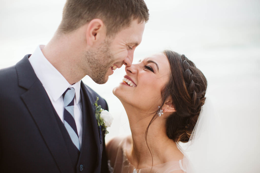 Clearwater Beach Bride and Groom Beachfront Intimate Wedding Portrait   Planner Parties A'la Carte