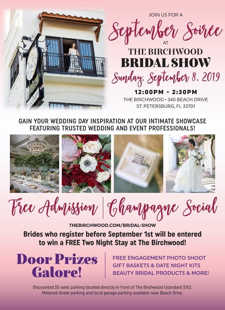 Downtown St. Pete Bridal Show 2019 at the The Birchwood