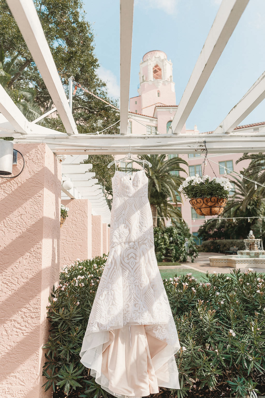 Lace Beaded Spaghetti Strap Hayley Paige Bridal Fit and Flare Wedding Dress   St. Pete Wedding Venue The Vinoy