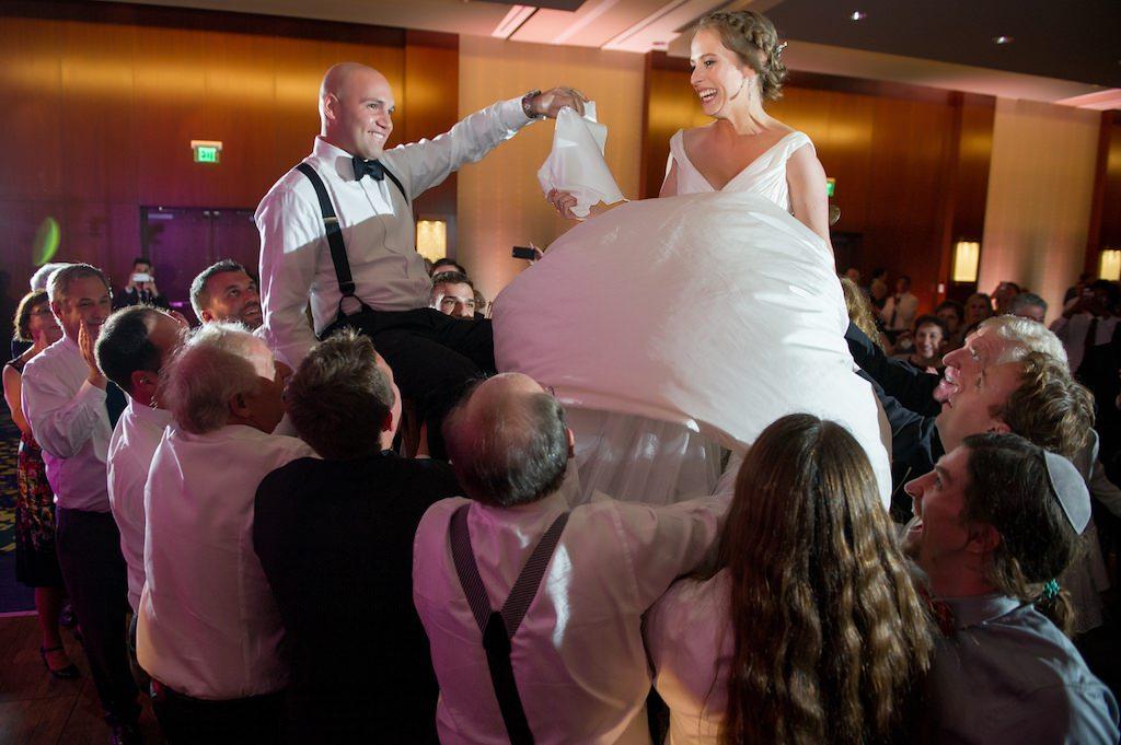 Jewish Wedding Reception Hora Chair Dance