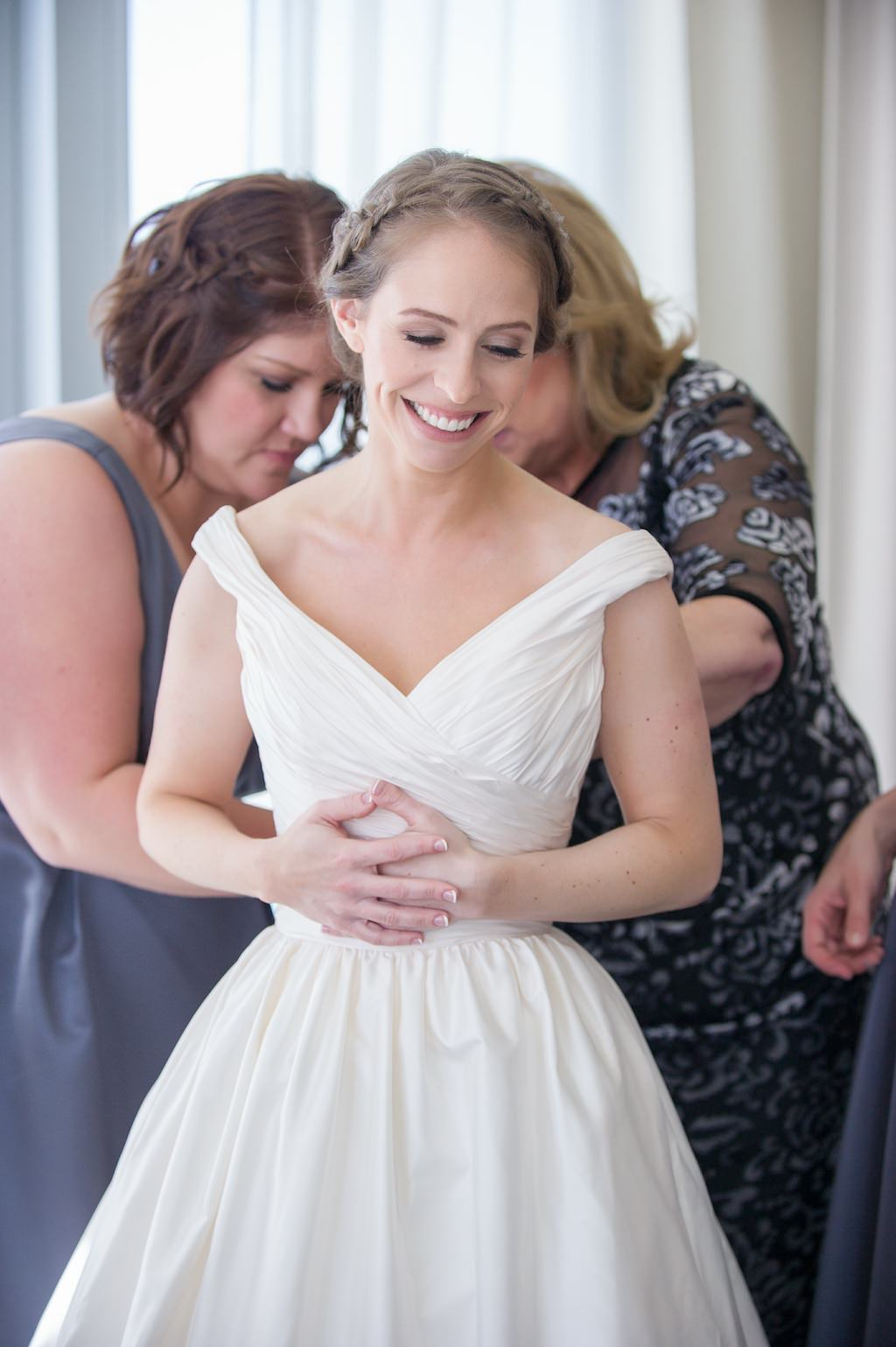 Bride Getting Ready Traditional A-Line Wedding Dress | Clearwater Beach Wedding Photographer Andi Diamond Photography