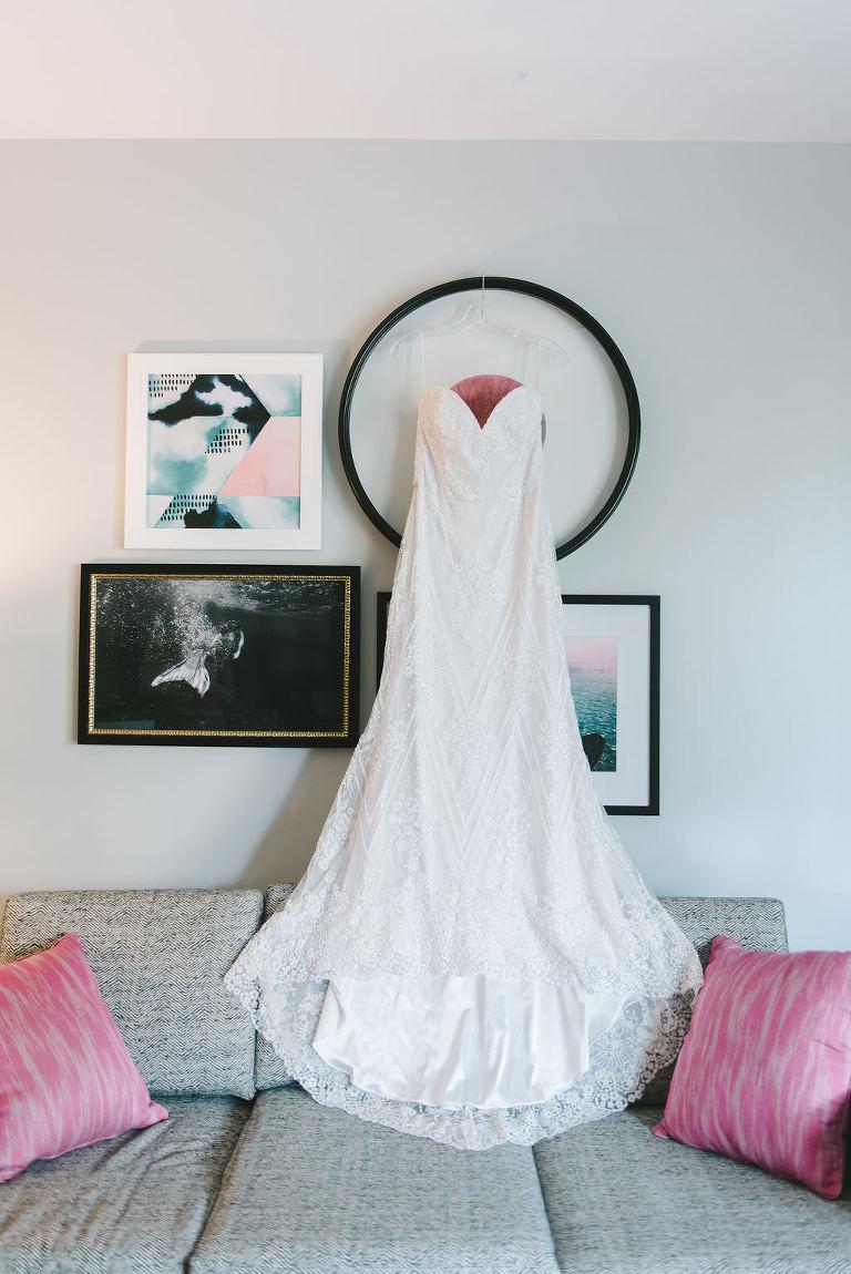 Modern Tara Keely Lace Wedding Dress, Strapless Sweetheart Neckline | | Tampa Bay Wedding Photographer Kera Photography