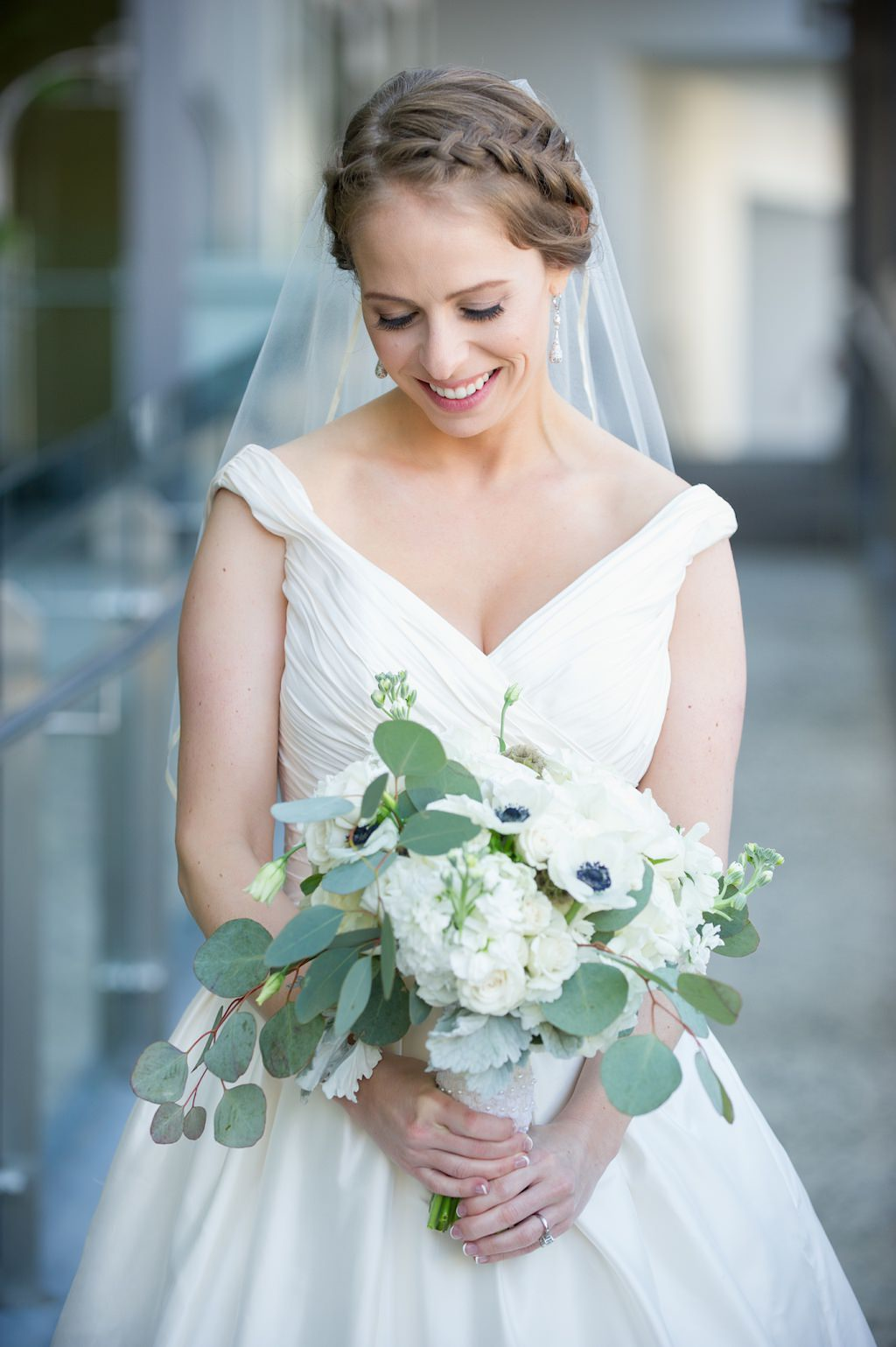 Bride in Classic Makeup with Braid Updo | Clearwater Beach Wedding Photographer Andi Diamond Photography | Hair and Makeup Artist Femme Akoi Beauty Studio