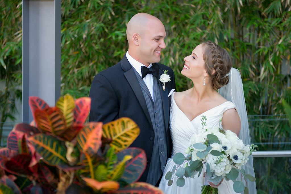 Bride and Groom First Look Wedding Portrait | Clearwater Beach Wedding Photographer Andi Diamond Photography