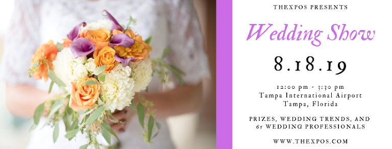 TheXpos August 2019 Tampa Bridal Show at the Tampa International Airport