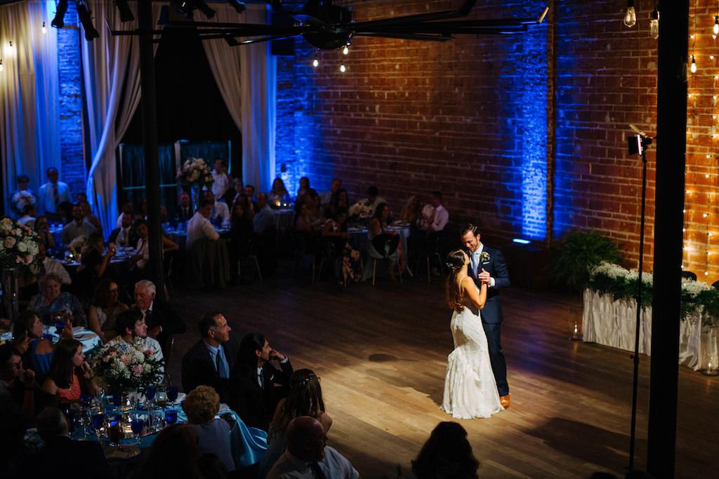 Florida Bride and Groom First Dance | Downtown St. Pete Historic Wedding Venue NOVA 535