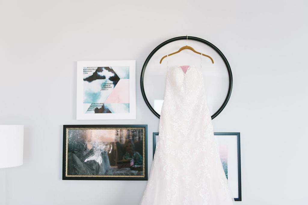 Classic Formal Lace Strapless Sweetheart A Line Stella York Wedding Dress   Wedding Photographer Kera Photography