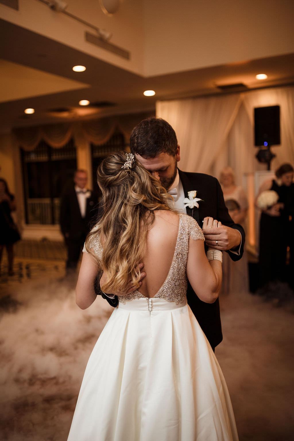 Florida Bride and Groom Classic Wedding Reception First Dance Wedding Portrait