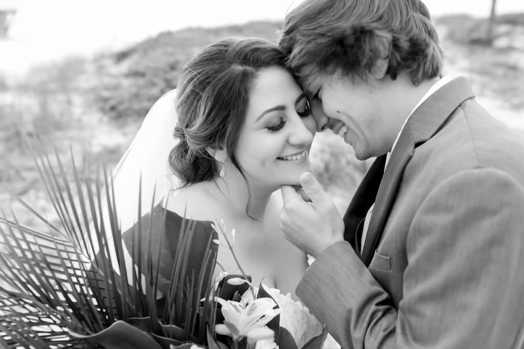 Intimate Florida Bride and Groom Beach Wedding Portrait   Tampa Bay Wedding Photographer Lifelong Photography Studios