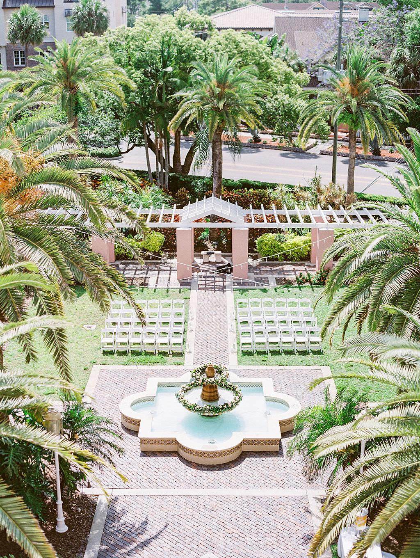 Elegant Outdoor Courtyard Wedding Ceremony | St. Petersburg Hotel Wedding Venue The Vinoy Renaissance