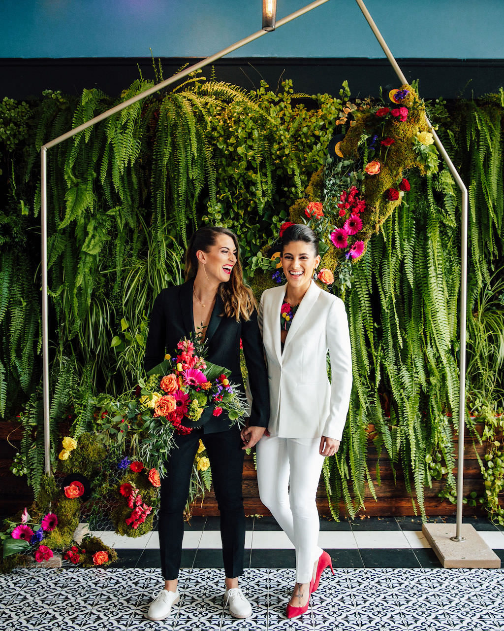 Black and White Women's Tuxedo Wedding Bridal Suits Same Sex Gay Couple | The Groomsmen Suit | Wedding Dress Trends 2019