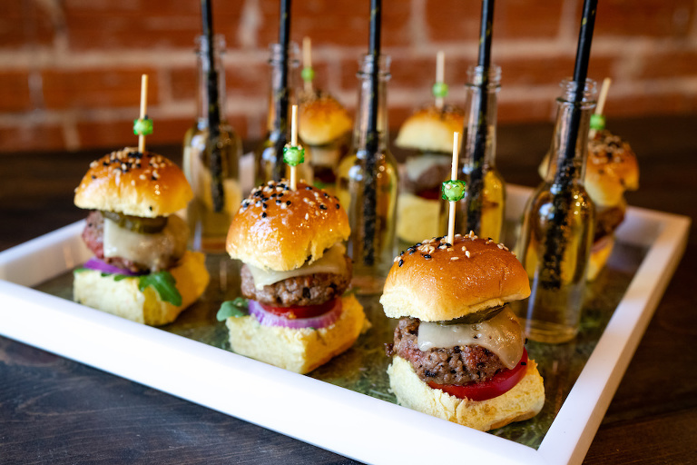 Impossible Sliders Featuring Vegan Burgers | Best Tampa Bay Wedding Caterer Elite Events Catering | Grind & Press Photography