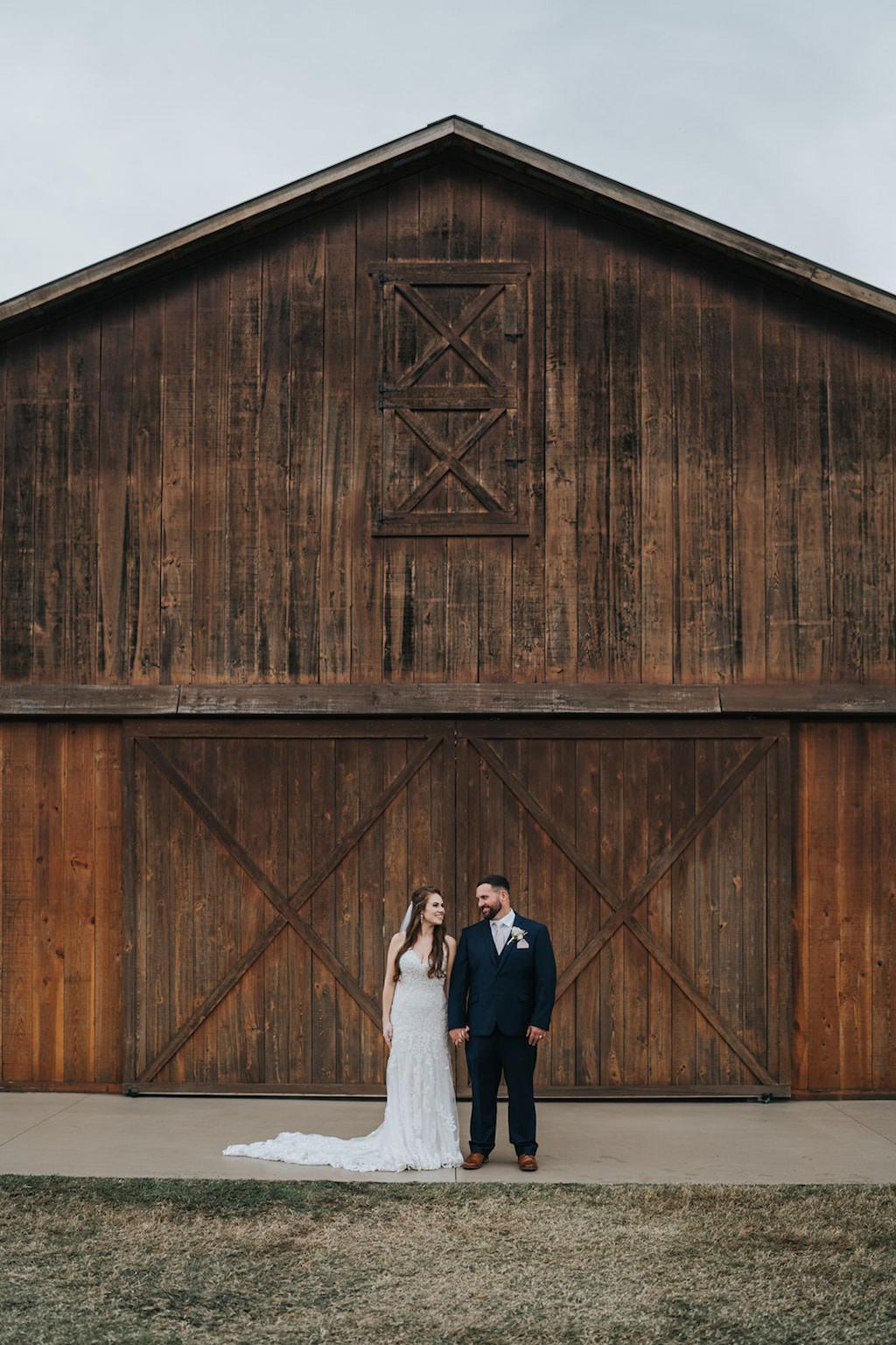 Florida Bride and Groom Outdoor Barn Wedding Portrait   Tampa Rustic Wedding Venue Rafter J Ranch