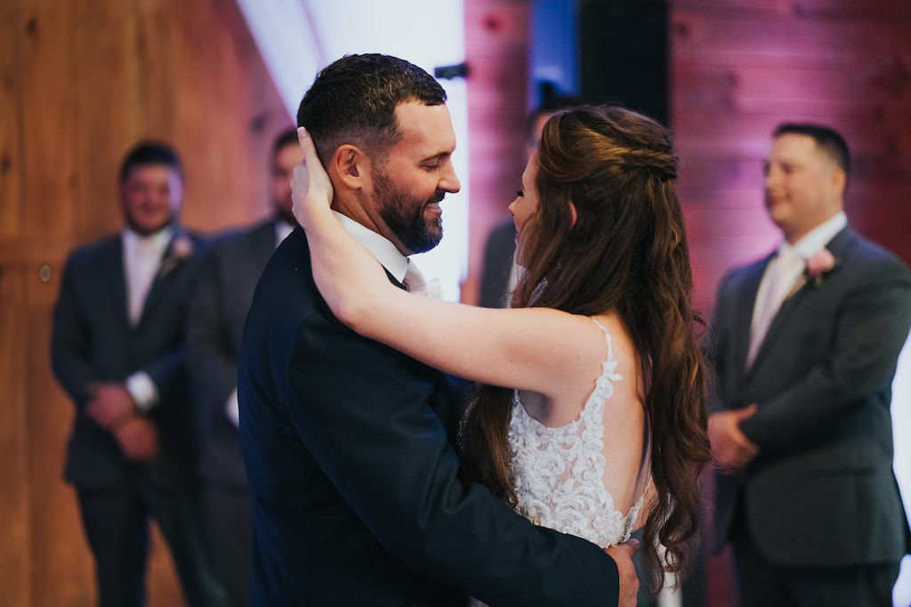 Tampa Bride and Groom First Dance Wedding Reception Portrait